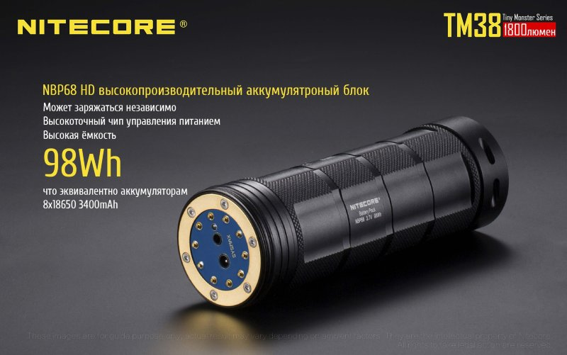 Фонарь Nitecore TM38 Tiny Monster