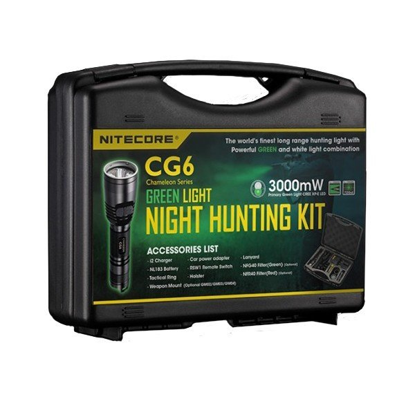 Комплект для охоты Nitecore CG6 Green Light Hunting Kit Cree XP-G2 (R5) Multi-color RGB